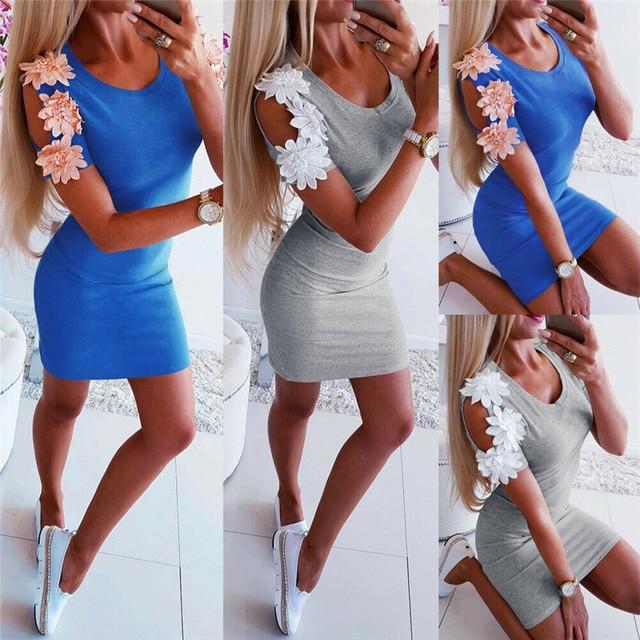 Women Boho Maxi Floral Slim Mini Casual  Dress Lady Party Evening Summer Beach Sundress