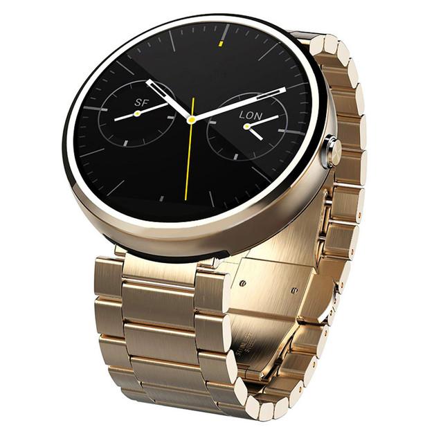 Butterfly fivela kimisohand 22mm faixa de relógio de aço inoxidável de qualidade para motorola moto 360 smart watch 2016 à venda