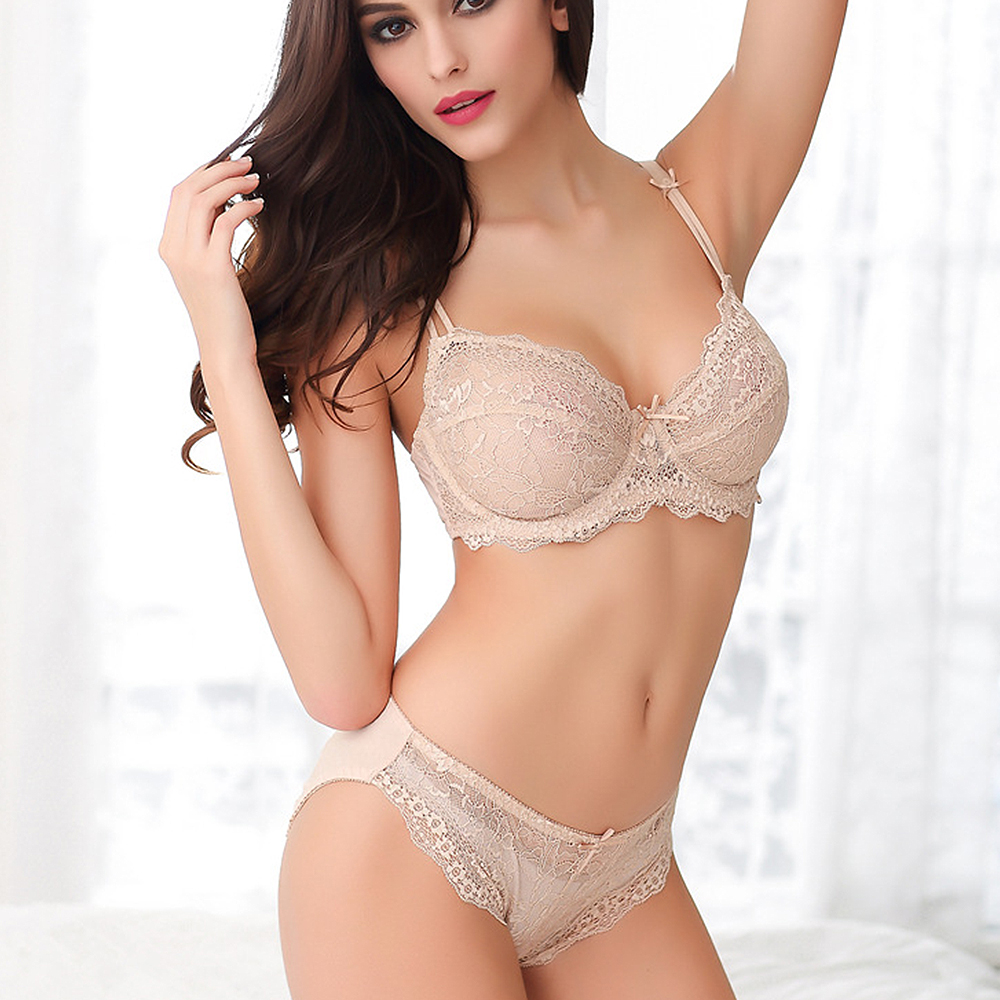 New Bra Sets For Women Plus Size 32 34 36 38 40 42 A B C D Cup Brassiere Lace Ornament Luxury Sexy Underwear Underwire Unlined