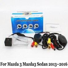 Камера Заднего вида Для Mazda 3 Mazda3 Sedan 2013 ~ 2016/Провод Или беспроводной/HD Широкоугольный Объектив CCD Автомобиля Ночного Видения Парковочная Камера