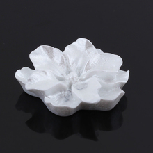 GDFSY 5pcs/lot DIY Accessories Resin Flowers Rose Earring for Jewelry Brooch White S012