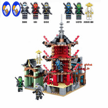 A Toy A Dream Bozhi 105 Ninja City of Stiix Building Blocks 737pcs Temple Airjitzu Kids
