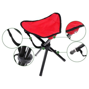 # 2018 Ultralight Portable Folding Chairs Tripod Chair Camping Fishing Stool Lightweight Seat for Outdoor Picnic BBQ Beach