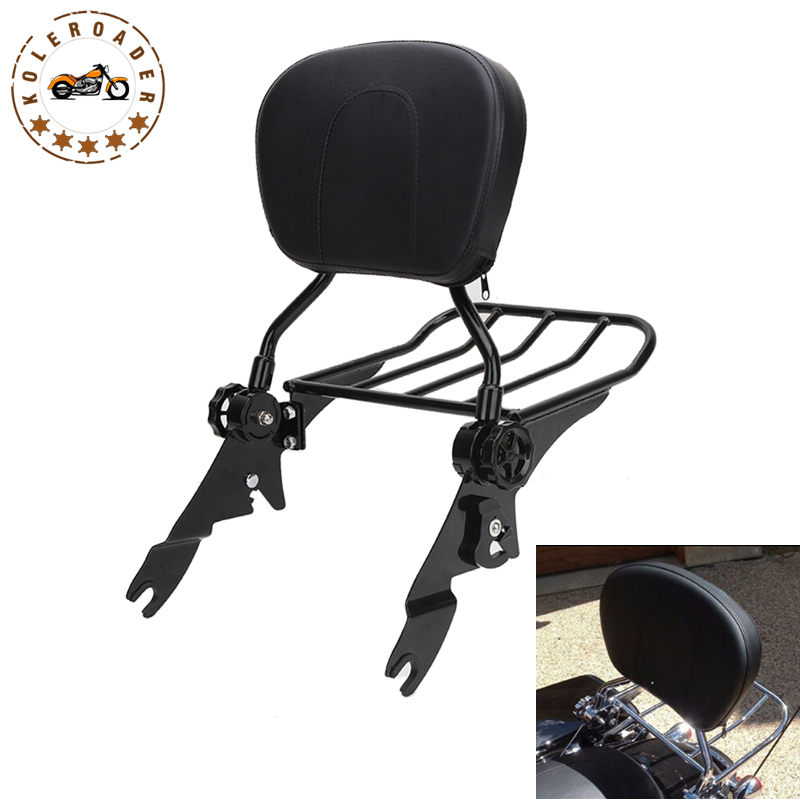 Motorcycle Passenger Backrest Sissy Bar Storage Luggage Rack for Harley Touring FLHR FLHX FLHT FLTR 2009-2017 MBT011 2 up tour pak mounting luggage rack for harley touring flhr flht flhx fltr 14 16