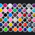 48 Mix color vu gel nail polish Pure+ Glitter Paillette + Glitter + pearlescent nacre colors nail art uv gel set gel kit