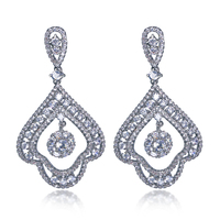 Clearance Sales Unique Design Party Dresses CZ Jewelry For Ladies Skillful Workmanship Clear Color Top Quality