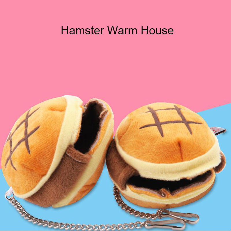 Cute Hamsters Bed House Winter Warm Coral Velvet  Nest Small Animals Mat House Cage Pet Sleeping Bag Supplies