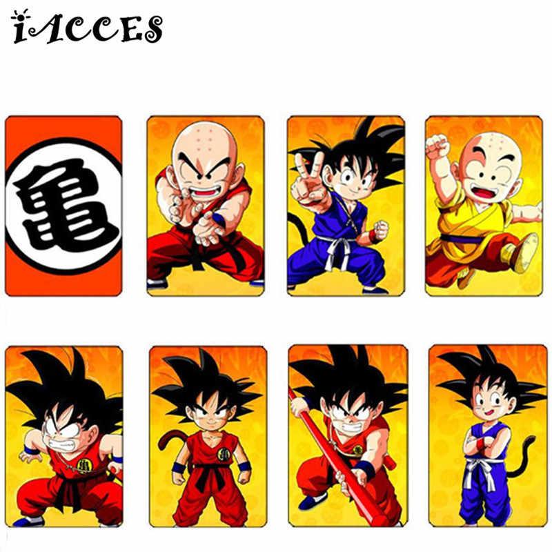 40 pçs/lote Adesivos Brinquedos De Dragon Ball Z Anime Japonês Series Cartão de Crédito DIY Adesivos Etiquetas Dos Desenhos Animados Crianças Presentes Goku Clássico