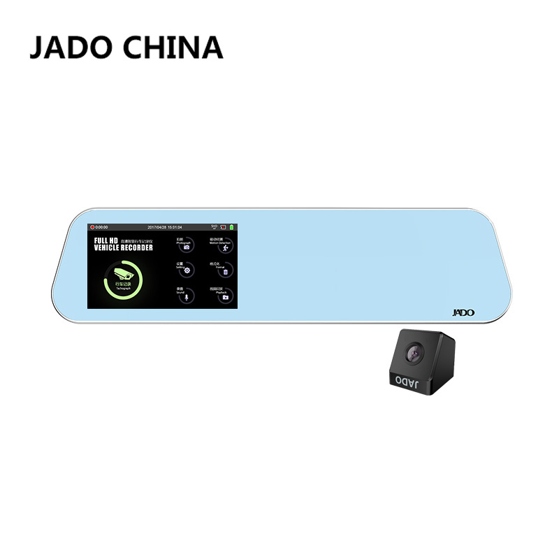 JADO D220 4 5 Touch Screen Car Dvr Full HD 1296P Car Camera Mirror with Rearview
