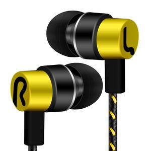 Image 4 - DOITOP moda kablolu Subwoofer kulaklık örgülü halat kulak kulakiçi gürültü izole kulaklık telefonları için MP3 MP4 XR649 PC oyun