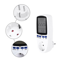 AC Power Meters 220V Digital Wattmeter EU Energy Meter Watt Monitor Electricity Consumption Measuring Socket Analyzer
