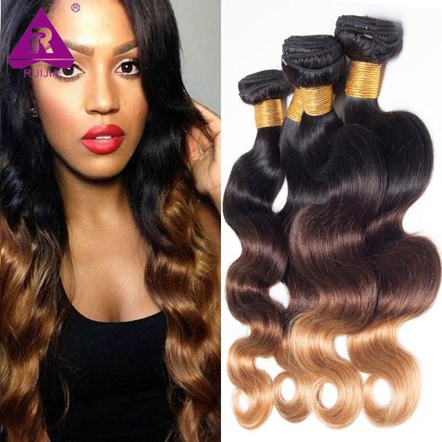 8a Black Rose Hair 4 Bundles Ombre Hair Extensions 1b 4 27 Body Wave