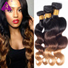 "8A Black Rose Hair 4 Bundles Ombre Hair Extensions 1b 4 27 Body Wave Ombre Virgin Hair 8""-26"" Raw Virgin Indian Hair Ombre Weave"