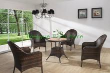 Indoor rattan garden set furniture supplier garden table and chair