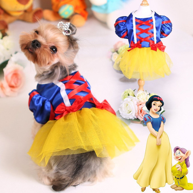 Cute Dogs Clothes Pet Dog Dress For Chihuahua Yorkies Classic White