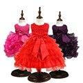 Детское платье девушки цветка На 1 Год день рождения Платья Детские