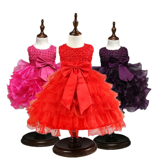 Bebé vestido de niña de las flores vestido De 1 Años Vestidos de Fiesta de cumpleaños Infantil
