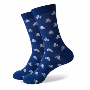 Image 5 - Match Up Men Colorful Blue Style Cotton Socks Mustache and Skull Socks  (5 Pairs / lot )