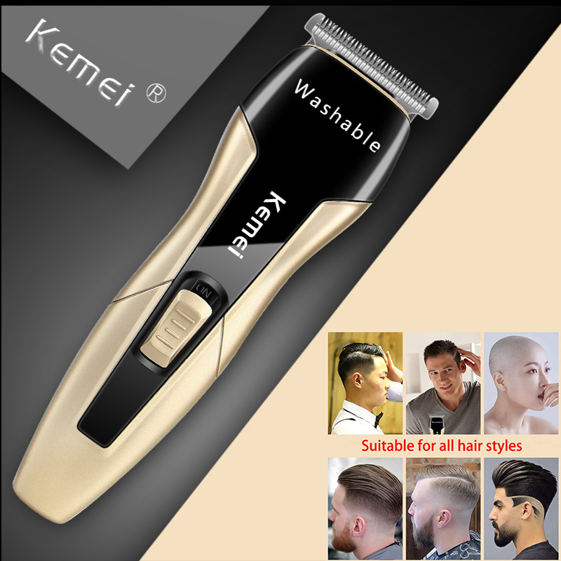 Kemei Electric Washable Hair Clipper Professional Hair Trimmer 0mm Baldheaded Carving Fade Cutter Hair Cutting Machine Barber