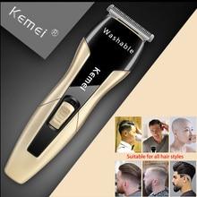 Электрическая моющаяся машинка для стрижки волос Kemei, профессиональный триммер для волос, 0 мм, болдуговая резьба, выцветающая машинка для стрижки волос, Парикмахерская