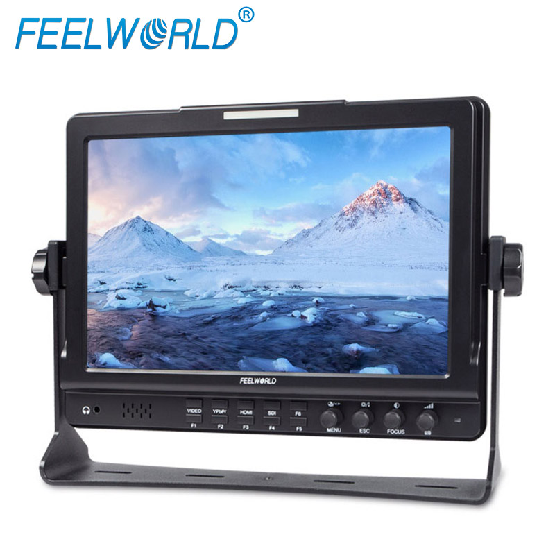 Feelworld FW1018S 10.1 Inch Field Monitor with Peaking Focus IPS 3G-SDI HDMI Photography Studio Camera Top External Monitor