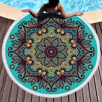 Geometric Round Beach Towel