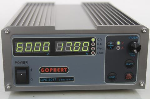 New upgrade Compact Digital Adjustable DC Power Supply OVP/OCP/OTP MCU Active PFC 60V17A 170V-264V + EU +cable cps 6003 60v 3a dc high precision compact digital adjustable switching power supply ovp ocp otp low power 110v 220v