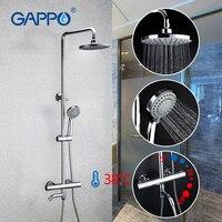 Promo Gappo latón termostático grifo de la ducha baño ascensor caliente ajustable agua fría ronda la cabeza