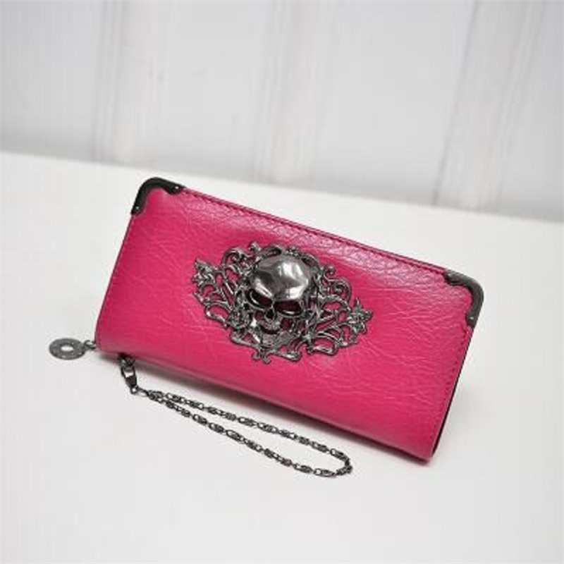 Miyahouse PU Leather Women Wallet Female Clutch Coin Purse Women Long High Quality Wallets Skull Flower Design Lady Purses