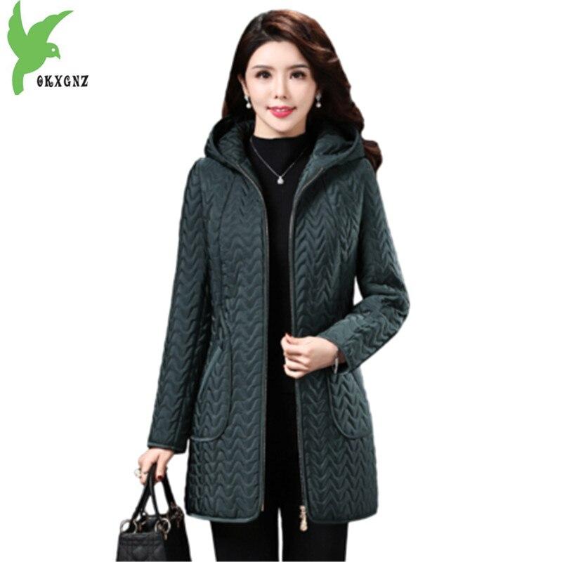 2018 Winter Parkas Women Jacket Plus size 5XL Hoodies Middle aged Female Outerwear Warm Plus Velvet Coats Clothes OKXGNZ A1966