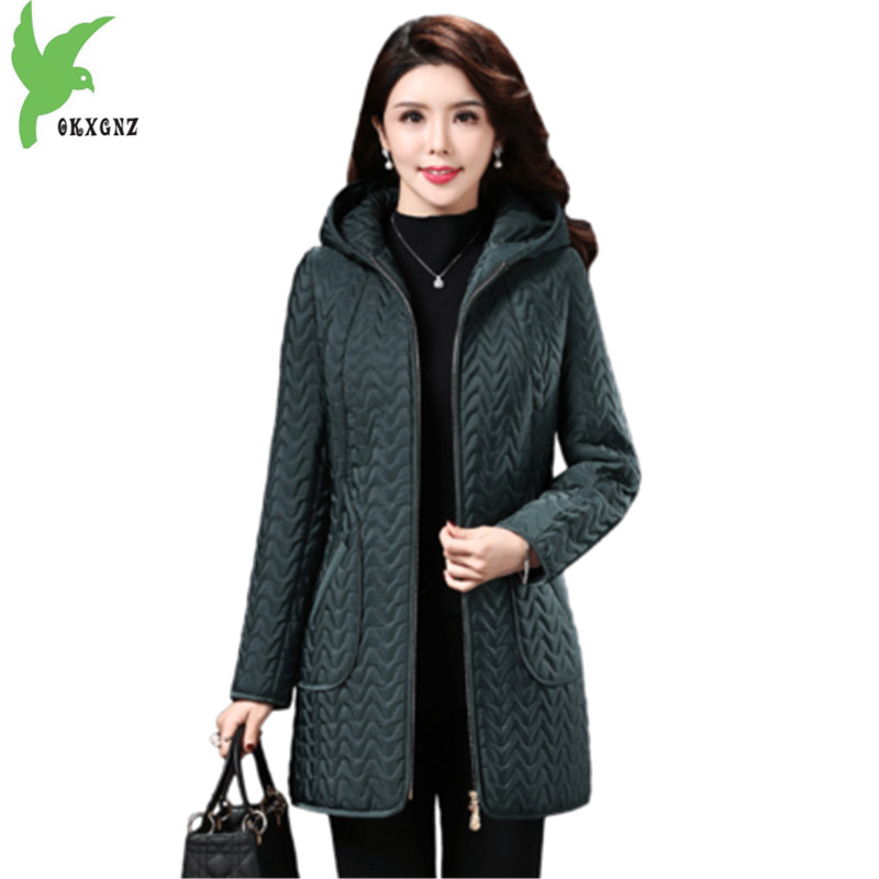 2018 Winter   Parkas   Women Jacket Plus size 5XL Hoodies Middle aged Female Outerwear Warm Plus Velvet Coats Clothes OKXGNZ A1966