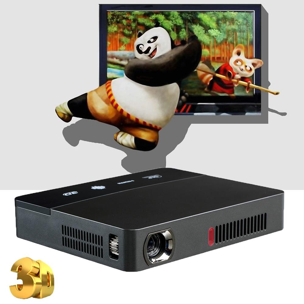 Prix pour NIERBO 3D Mini Projecteur DLP Portable Film Projecteur 1080 P Mini Android Projecteur de Diapositives LAN WIFI HDMI Home Cinéma D'affaires