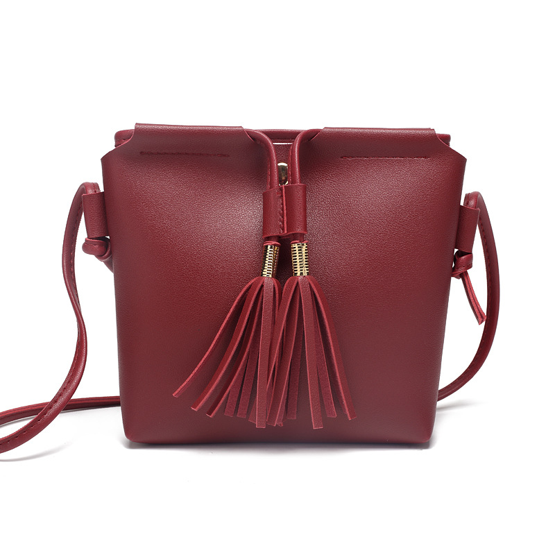 Fashion Small Chain Bag Women Flap Bags Candy Color Tassel Messenger Bags Female Handbag Female Shoulder Bag Mini Bolsa Feminina shoulder messenger mini candy bag small square package 2017 summer fashion handbags women messenger bags tide packet chain bag