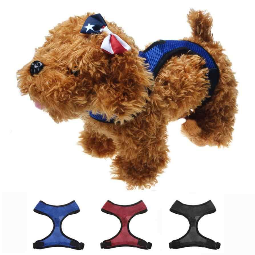 Przeniesienie ubrania dla zwierząt szelki dla psa miękka siatkowa kamizelka dla psa smycz pas na klatkę piersiową XS/S/M/L/ XL 3.13