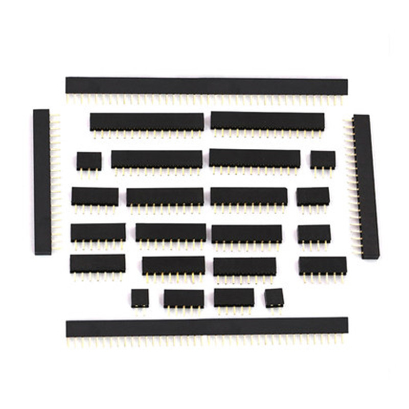 1U 2.0mm Single Row Female 2~40P Breakaway PCB Board Pin Header Connector Strip Pinheader 2/4/6/10/12/14/16/20/40P For Arduino 10pcs single row female 2 54mm pitch pcb female pin header connector straight single row 2 3 4 5 6 8 10 12 14 15 16 20 40pin