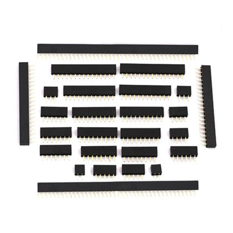 1U 2.0mm Single Row Female 2~40P Breakaway PCB Board Pin Header Connector Strip Pinheader 2/4/6/10/12/14/16/20/40P For Arduino 10pcs pin header 2 54mm pitch pcb female pin header connector straight single row 2 3 4 5 6 7 8 9 10 11 12 13 14 15 16 20 40 pin
