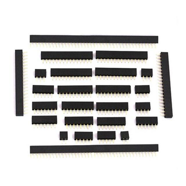1U 2.0mm Single Row Female 2~40P Breakaway PCB Board Pin Header Connector Strip Pinheader 2/4/6/10/12/14/16/20/40P For Arduino