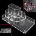 New arrival! Acrylic Transparent Cosmetic Makeup Box 8 Grids Jewelry Storage Case Organizer