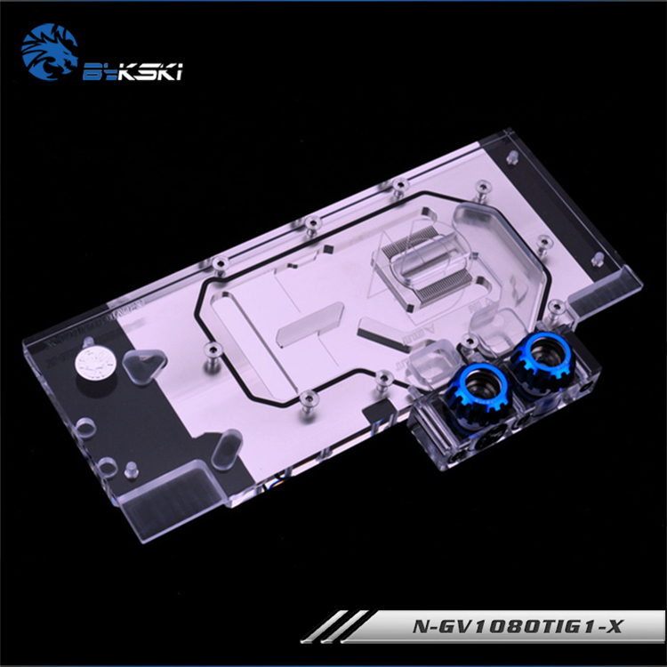 Bykski N-GV1080TIG1-X GPU water block for GIGABYTE GTX 1080 Ti Gaming OC 11G , cooled ,VGA cooler,support synchronous mainboard image