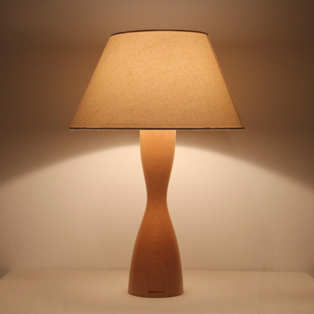 Attractive Nordic Brief Engraved Wood Lamp Table Lamps Linen Lampshade Living Room  Study Lighting Oil Surface Light Part 16