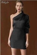 Halinfer 2019 new Autumn  women dress sexy bodycon Oblique collar One-Shoulder elegant celebrity party dresses vestidos