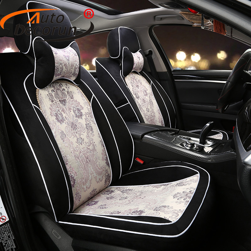 Autodecorun Custom Fit Jacquard Fabric Cover Seat For Bmw