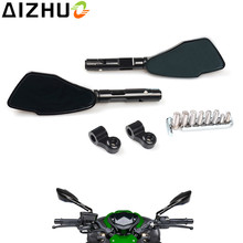 цена на For Kawasaki Z750 Z800 Z900 ER6N ER-6N Z 750 Motorcycle Rearview Mirrors Universal CNC Aluminum Rear View Mirrors Side Mirrors