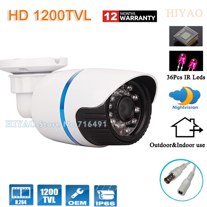 Security Camera 1/2.5''CMOS 1200TVL 36 LED Color IR Night Vision Surveillance CCTV Camera Home Outdoor Video Camera 1 3 sony cmos 1200tvl cctv security camera metal ip66 24 led color ir night vision surveillance home outdoor video camera