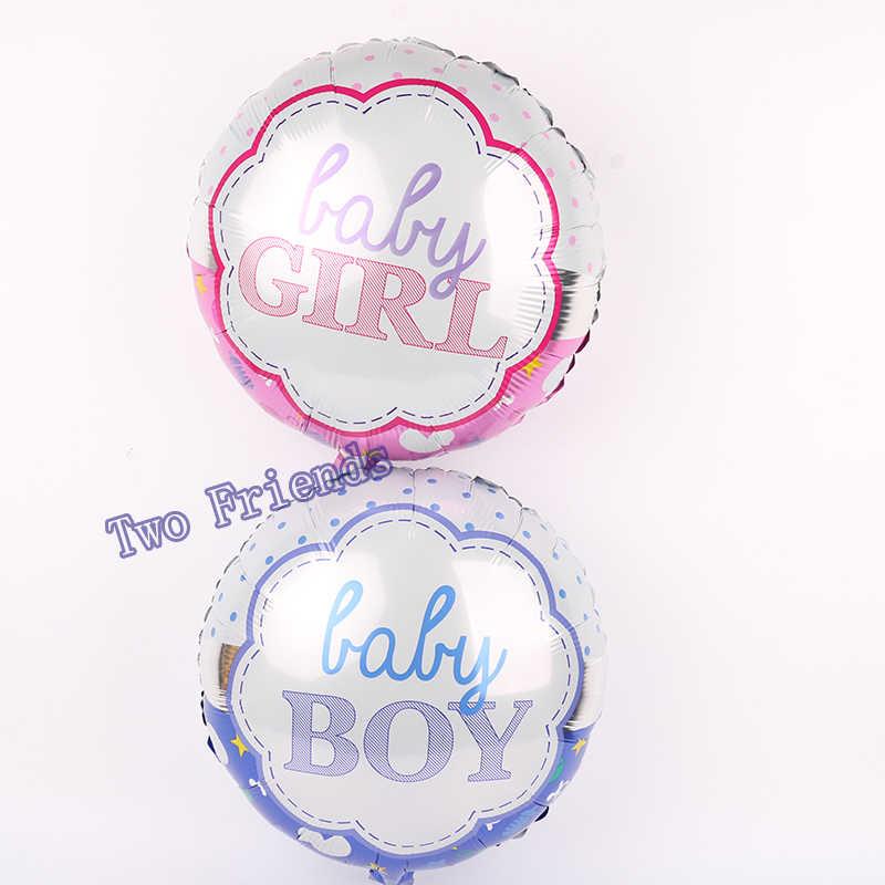 1 zestaw new born baby shower dziewczyna balony 1st urodziny dekoracje świąteczne dla dzieci powietrza nadmuchiwane globos niebieski różowy lateksowe balony