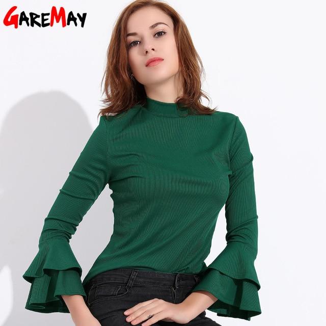 97c758e15364 GAREMAY Office Women Ruffle Shirt Blouse Chemise Femme Womens Tops And  Blouses Long Sleeve 2018 Top Female Shirt Feminine Blouse