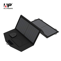 ALLPOWERS 18V 5V 21W Foldable Portable Solar Panel Charger Dual Output Wild Solar Charger For Phones
