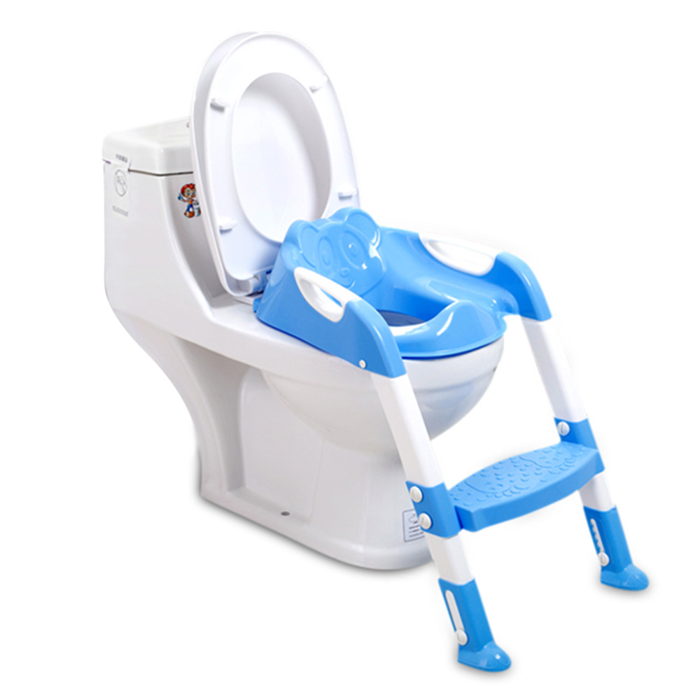 Baby Potty Training Chair With Foldable Adjustable Ladder Children Potty Infant Toilet Seat Infant Toilet Training Folding Seat цена
