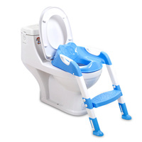 Baby Potty Training Chair With Foldable Adjustable Ladder Children Potty Infant Toilet Seat Infant Toilet Training Folding Seat