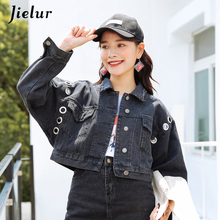 Jielur 2019 Autumn Denim Jacket for Women Korean Loose Jean Coat Spring BF Vintage Bomber Casual Mujer Jackets Dropship